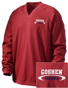 Goshen Embroidered Men's V-Neck Raglan Wind Shirt