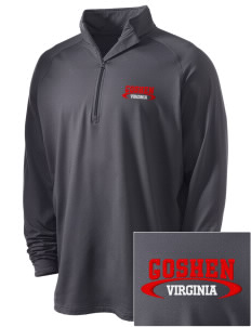 Goshen Embroidered Men's Stretched Half Zip Pullover