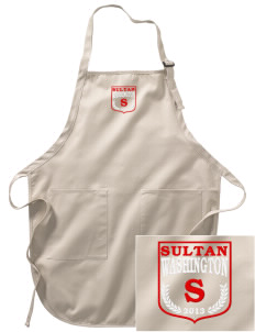 Sultan Embroidered Full-Length Apron with Pockets