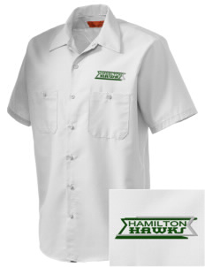 Hamilton Elementary School Hawks Embroidered Men's Cornerstone Industrial Short Sleeve Work Shirt