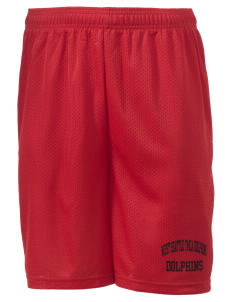 "West Seattle YMCA Dolphins Men's Mesh Shorts, 7-1/2"" Inseam"