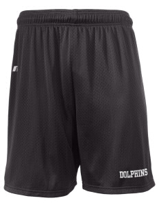 "West Seattle YMCA Dolphins  Russell Men's Mesh Shorts, 7"" Inseam"