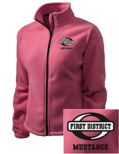 First District Elementary School Mustangs Embroidered Women's Fleece Full-Zip Jacket