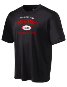 First District Elementary School Mustangs Champion Men's Wicking T-Shirt