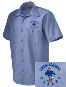 Coppin Academy Eagles Embroidered Men's Cornerstone Industrial Short Sleeve Work Shirt