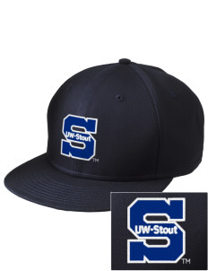 University of Wisconsin-Stout Blue Devils  Embroidered New Era Flat Bill Snapback Cap