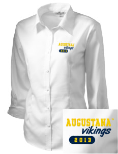 Augustana College Vikings Embroidered Women's 3/4 Sleeve Non-Iron