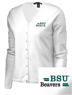 Bemidji State University Beavers Embroidered Women's Stretch Cardigan Sweater