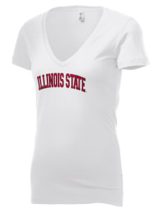 Illinois State University Redbirds Women's 4.2 oz Jersey Deep V-Neck T-Shirt