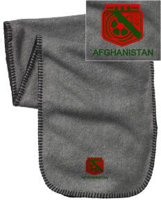 Afghanistan Soccer Embroidered Fleece Scarf