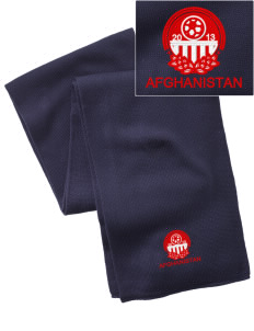 Afghanistan Soccer  Embroidered Knitted Scarf