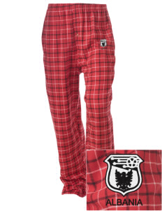 Albania Soccer Embroidered Unisex Button-Fly Collegiate Flannel Pant