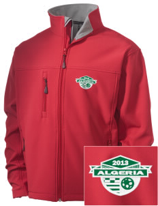 Algeria Soccer Embroidered Men's Soft Shell Jacket