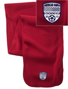 American Samoa Soccer  Embroidered Extra Long Fleece Scarf
