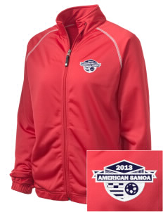 American Samoa Soccer Embroidered Holloway Women's Attitude Warmup Jacket