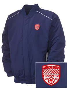 American Samoa Soccer Embroidered Russell Men's Baseball Jacket