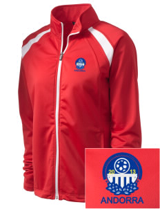 Andorra Soccer Embroidered Women's Tricot Track Jacket