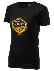 Angola Soccer Alternative Women's Basic Crew T-Shirt