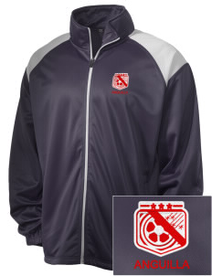 Anguilla Soccer Embroidered Men's Tricot Track Jacket