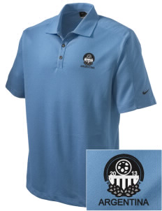 Argentina Soccer Embroidered Nike Men's Dri-FIT Pique II Golf Polo