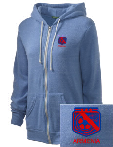 Armenia Soccer Embroidered Alternative Unisex The Rocky Eco-Fleece Hooded Sweatshirt