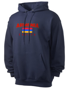 Armenia Soccer Men's 7.8 oz Lightweight Hooded Sweatshirt