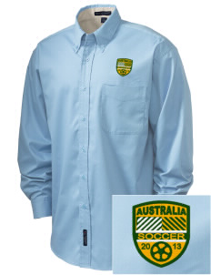 Australia Soccer Embroidered Men's Easy-Care Shirt