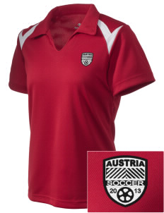 Austria Soccer Embroidered Holloway Women's Laser Polo