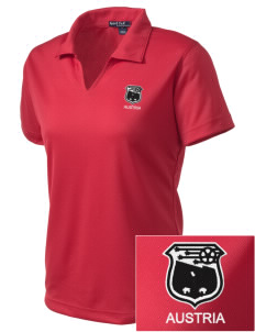 Austria Soccer Embroidered Women's Dri Mesh Polo