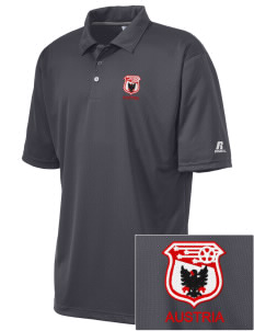Austria Soccer Embroidered Russell Coaches Core Polo Shirt