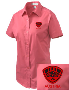 Austria Soccer Embroidered Women's Easy Care Short Sleeve Shirt