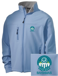 Bahamas Soccer Embroidered Men's Soft Shell Jacket