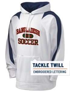 Bangladesh Soccer Holloway Men's Sports Fleece Hooded Sweatshirt with Tackle Twill