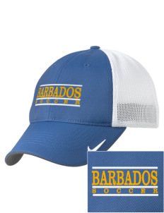 Barbados Soccer Embroidered Nike Golf Mesh Back Cap