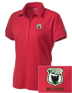 Belarus Soccer Embroidered OGIO Women's Jewel Polo
