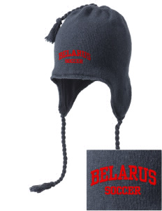 Belarus Soccer Embroidered Knit Hat with Earflaps