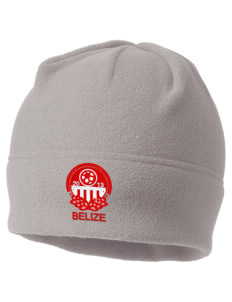 Belize Soccer Embroidered Fleece Beanie