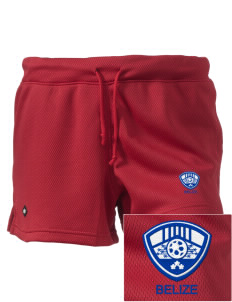 "Belize Soccer Embroidered Holloway Women's Balance Shorts, 3"" Inseam"