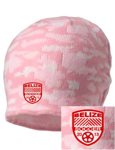 Belize Soccer Embroidered Camo Beanie