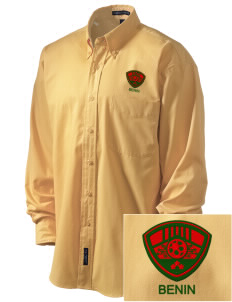 Benin Soccer Embroidered Men's Easy-Care Shirt