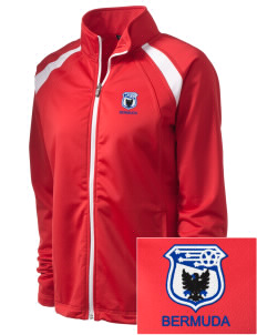 Bermuda Soccer Embroidered Women's Tricot Track Jacket