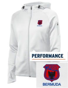 Bermuda Soccer Embroidered Women's Tech Fleece Full-Zip Hooded Jacket