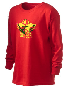 Bolivia Soccer Kid's 6.1 oz Long Sleeve Ultra Cotton T-Shirt