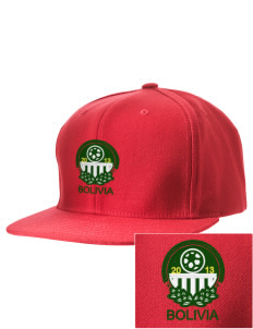 Bolivia Soccer Embroidered D-Series Cap