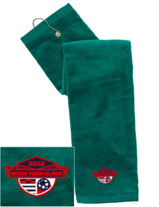 British Virgin Islands Soccer Embroidered Hand Towel with Grommet