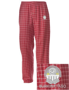 Burkina Faso Soccer Embroidered Men's Button-Fly Collegiate Flannel Pant