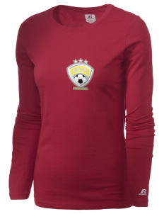 Burkina Faso Soccer  Russell Women's Long Sleeve Campus T-Shirt