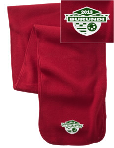 Burundi Soccer  Embroidered Extra Long Fleece Scarf