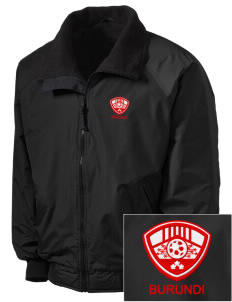 Burundi Soccer Embroidered Tall Men's Challenger Jacket