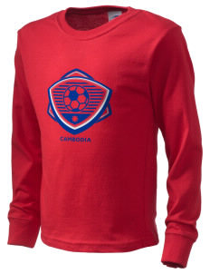 Cambodia Soccer  Kid's Long Sleeve T-Shirt
